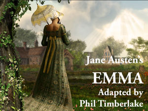 Logo for First Folio Theatre's production of Jane Austen's Emma