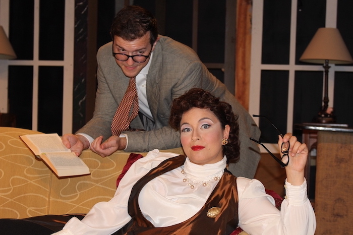 Anna Gallucci and Joshua Paul Wright in Born Yesterday produced by Saint Sebastian Players